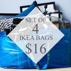 IKEA Frakta Shopping Bags - Set Of 4